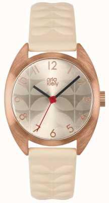 Orla Kiely | Ladies Beatrice Watch | Cream Sun Ray Dial | Nude Strap | OK2290