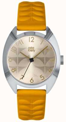 Orla Kiely | Ladies Beatrice Watch | Sun Ray Dial | Mustard Strap | OK2291
