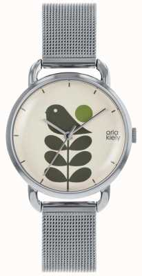 Orla Kiely | Ladies Avery Stem Watch | Silver Mesh Strap OK4081