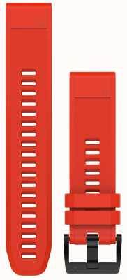 Garmin Flame Red Rubber Strap QuickFit 22mm Fenix 5 / Instinct 010-12496-03