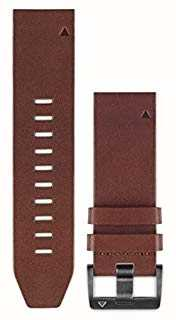 Garmin Brown Leather Strap QuickFit 22mm Fenix 5 / Instinct 010-12496-05