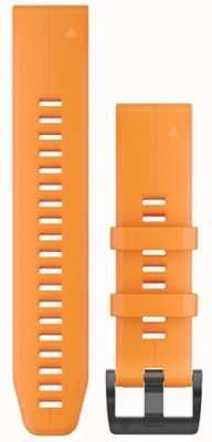 Garmin Orange Rubber Strap Only QuickFit 22mm 010-12740-04