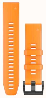 Garmin Orange Rubber Strap Only QuickFit 22mm 010-12740-04