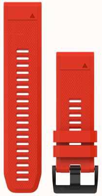 Garmin Flame Red Rubber QuickFit 26mm Fenix 5X / Tactix Charlie 010-12517-02