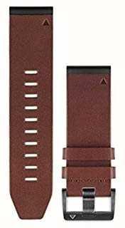 Garmin Brown Leather Strap QuickFit 26mm Fenix 5X / Tactix Charlie 010-12517-04