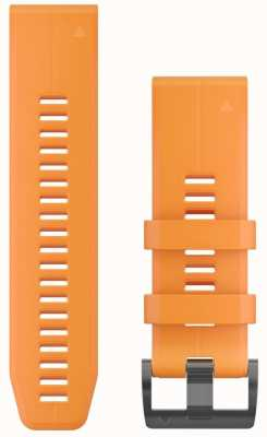 Garmin Orange Rubber Strap QuickFit 26mm Fenix 5X / Tactix Charlie 010-12741-03