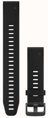 Garmin Large Black Rubber Strap Only QuickFit 20mm 010-12739-07