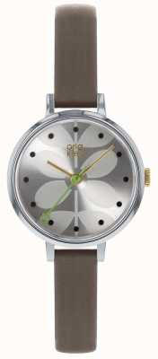 Orla Kiely Ladies Watch | Grey Strap | Silver Dial OK2251