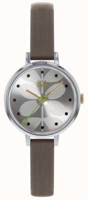 Orla Kiely Ladies Watch | Grey Strap | Silver Dial OK2251