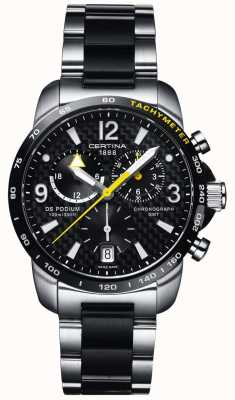 Certina | DS Podium | GMT Chronograph | Steel Black Carbon | C0016392220701