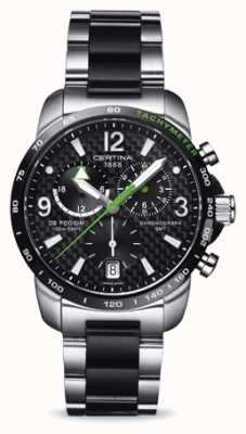 Certina Men's DS Podium GMT Chronograph Stainless Steel Black Dial C0016392220702