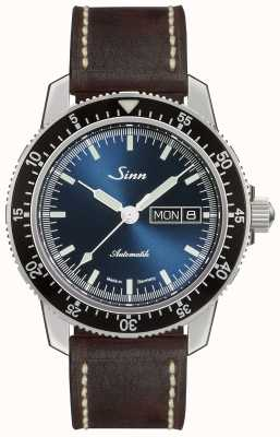Sinn 104 St Sa I B | Dark Brown Vintage Brown Leather Strap 104.013-BL50202002007125401A