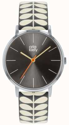 Orla Kiely Ladies Patricia Watch | Grey And Cream Strap OK2247