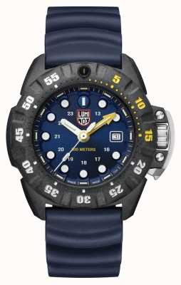 Luminox Mens Scott Cassell Deep Dive 1550 | Carbon Blue XS.1553
