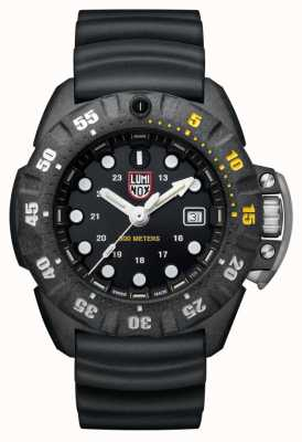 Luminox Mens Scott Cassell Deep Dive 1550 | Carbon Black | XS.1555