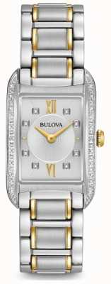 Bulova Women's Silver Diamond Set Quartz 98R227