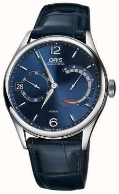 ORIS Artelier Calibre 111 Blue Croco Leather Watch 01 111 7700 4065-set 1 23 87fc