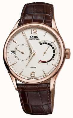 ORIS Artelier Caliber 111 Brown Leather Strap 01 111 7700 6061-set 1 23 86