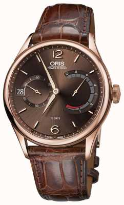 ORIS Artelier Calibre 111 Brown Leather Strap 01 111 7700 6062-set 1 23 86
