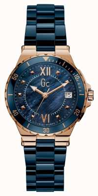 Gc Ladies Sport Date | Rose Gold Round Y42003L7