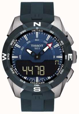 Tissot Mens T-Touch Expert Solar II Alarm Chrono Grey Rubber Strap T1104204704100