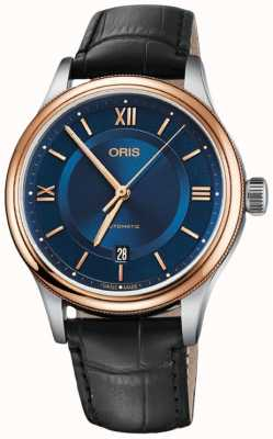ORIS Classic Date 42mm Mens Watch Blue Dial Leather 01 733 7719 4375-07 5 20 35