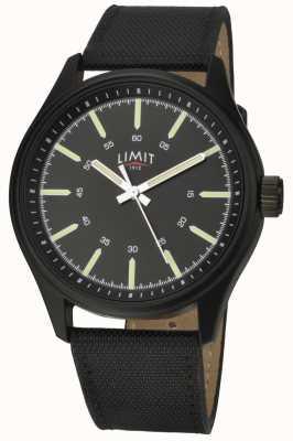 Limit | Men's | Black Leather Strap | Black Dial | 5948.01