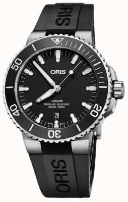 Oris Aquis Date 43.5mm Mens Black Rubber Strap 01 733 7730 4124-07 4 24 64EB