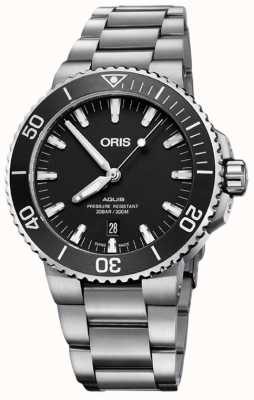 Oris Aquis Date 43.5mm Mens Watch | Silver Strap | 01 733 7730 4124 07 8 24 05EB