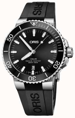 ORIS Aquis Date 43.5mm Mens Watch | Rubber Strap | 01 733 7730 4134-07 4 24 64EB