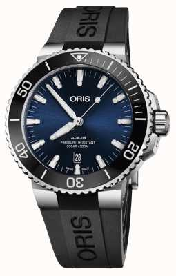 Oris Aquis Date 43.5mm Mens Watch | Rubber Strap | 01 733 7730 4135-07 4 24 64EB