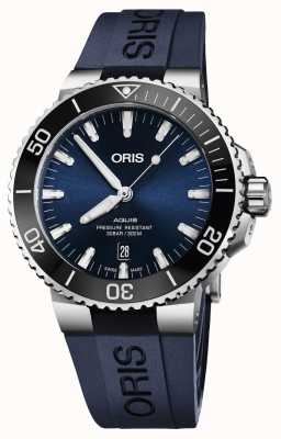 ORIS Aquis Date 43.5mm Mens Watch | Rubber Strap | 01 733 7730 4135-07 4 24 65EB