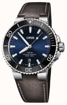 ORIS Aquis Date 43.5mm Mens Watch Leather 01 733 7730 4135-07 5 24 10EB