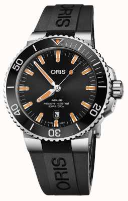 Oris Aquis Date 43.5mm Mens Watch | Rubber Strap | 01 733 7730 4159-07 4 24 64EB