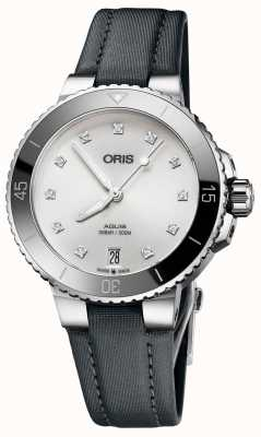 ORIS Aquis Date Diamonds 36.5mm Midsize Watch 01 733 7731 4191-07 5 18 45FC
