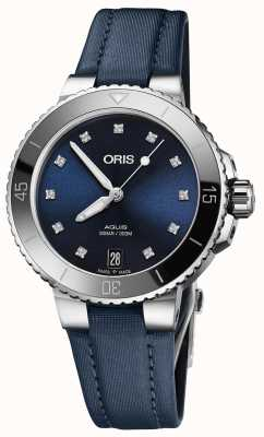 ORIS Aquis Date Diamonds 36.5mm Midsize Watch 01 733 7731 4195-07 5 18 46FC