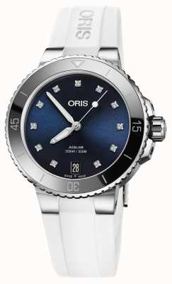 ORIS Aquis Date Diamonds 36.5mm Midsize Watch 01 733 7731 4195-07 4 18 63FC
