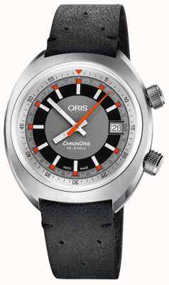 ORIS Chronoris Men's Watch Black Leather Strap 01 733 7737 4053-07 5 19 44