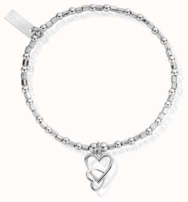 ChloBo Women's   Interlocking Love Heart   Bracelet SBCFB572
