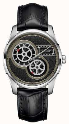 Hamilton Men's Jazzmaster Regulator Cinema Automatic Black Leather H42605731