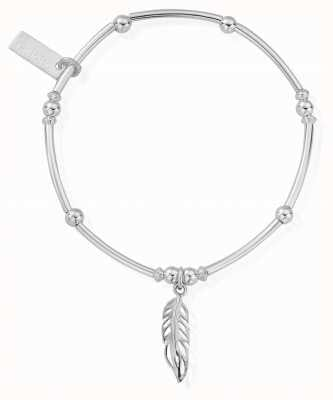 ChloBo Womens | Mini Noodle Ball Feather | Bracelet SBMNB570
