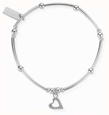 ChloBo Women's | Mini Noodle Ball Patterned Heart | Bracelet SBMNB399