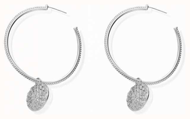 ChloBo Women's | Flower Hoop | Earrings SEH659