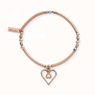 ChloBo Rose Gold & Silver |Divine Love Heart | Bracelet MBNBR575