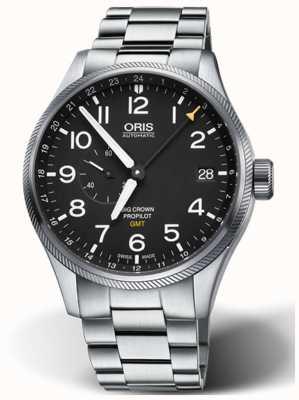 Oris Big Crown ProPilot GMT Small Seconds 45mm Mens Watch 01 748 7710 4164-07 8 22 19