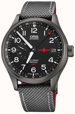 Oris Big Crown ProPilot GMT Small Seconds 45mm Mens Watch 01 748 7710 4284-Set GMT Rega