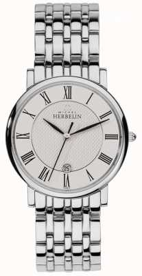 Michel Herbelin Men's Classics Stainless Steel Roman Numeral 12543/B01
