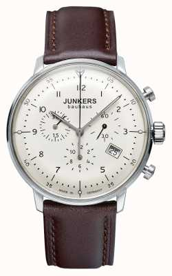 Junkers Mens Bauhaus Chronograph Brown Leather Strap 6086-5