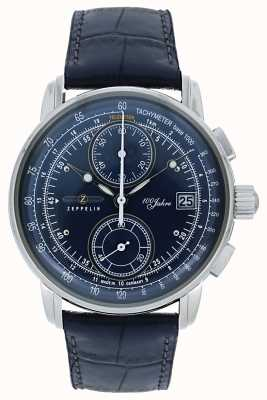 Zeppelin | Series 100 Years | Chronograph Date | Blue Leather | 8670-3