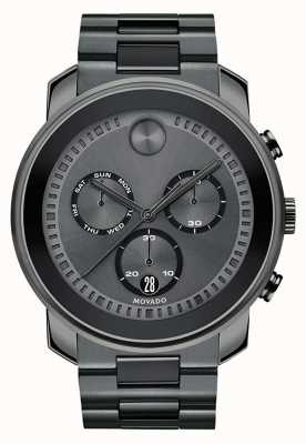 Movado | Mens Bold Chronograph Watch | Gunmetal Grey Steel | 3600486